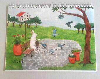 2018 Wall Calendar - New Paintings by Nakisha