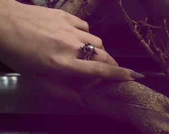 silver moon ring // létra
