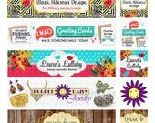 Custom Banner for Etsy Shop Cover Photo and Shop Icon Design Jewelry Store Baby Boutique Vintage Clothing Embroidery Sewing Soap Candle