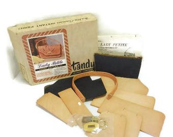 Vintage Tandy Leather Purse Kit for Tooling | Lady Petite Gadget Bag Purse Kit