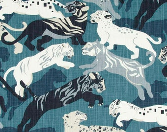 Robert Allen FABRIC - Robert Allen @Home - Rajita Tiger in Midnight