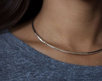 diamond dusted necklace | PETITE COLLAR