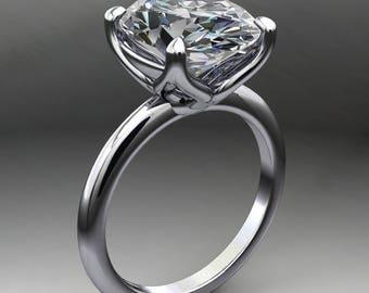 natalie ring - 4 carat oval NEO moissanite engagement ring
