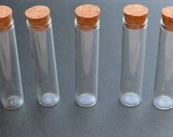 5 glass test tube style vial bottles 13ml