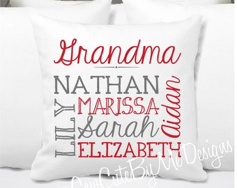 Personalized Grandkids Pillow, Grandma Pillow, Grandpa Pillow, Grandkids Gift, Nana, Personalized Memaw Pillow