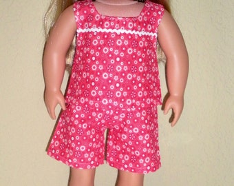 Red Play Outfit---Girl doll shorts---girl doll clothes---doll dress