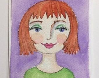 Original Watercolour : Emma