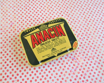 Little Vintage Anacin Tablets Tin