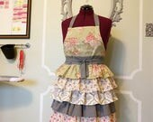 Custom SOPHIE Vintage Style Full Ruffle Apron - Made to Order