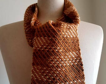 Short handwoven scarf