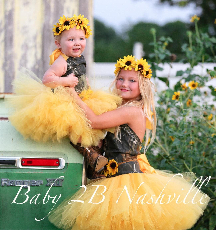 Sunflower Flower Girl Dress