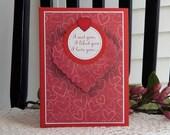 Handmade Valentine's Day Card: husband, sweetheart, loved one, boy friend, hearts, pop up, ooak complete card, handmade, balsampondsdesign