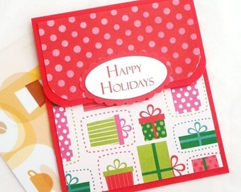 Holiday Gift Card Holder - Happy Holidays Cards - Christmas Gift Card Holders - Holiday Money Cards