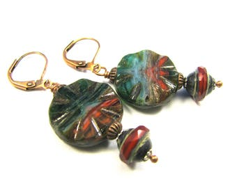 "Bohemian Inspired Czech Glass Collection - ""Saorise"" Earrings"
