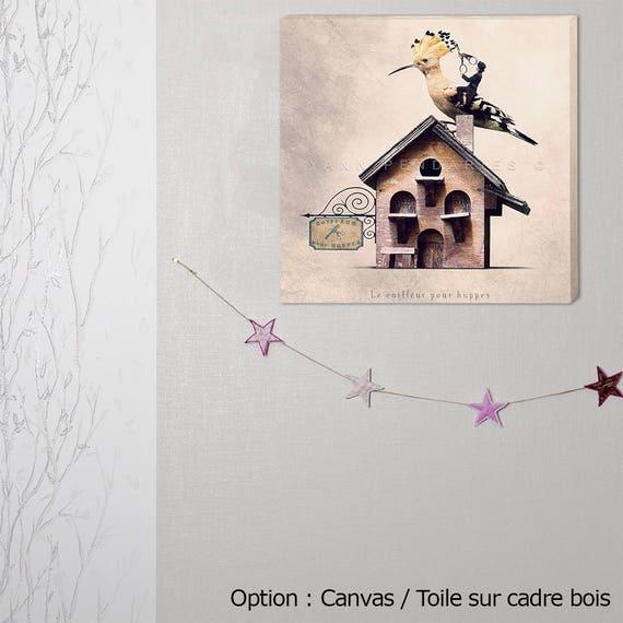 custom print, canvas, canvas wrap, canvas art, hoopoe photo, bird photo, ornithology decor, gift for ornithologist, decoration birds