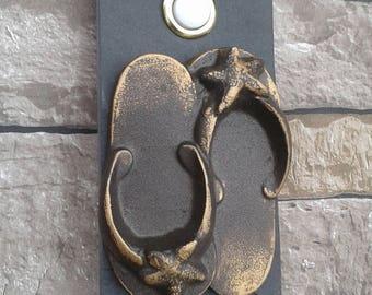 Beach Flip Flops Doorbell Wired