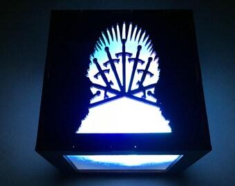 Game of Thrones LED Lantern, House Targaryen, Stark, Lannister, Baratheon, Iron Throne, Westeros, Nightlight, Light Cube