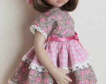 "For 13"" Effner Little Darling Tiered Dress and Crocheted Hat"