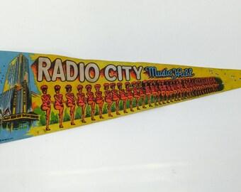 Vintage Radio City Music Hall pennant - 1978