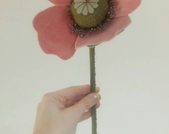 Wizard Of Oz - Giant Velvet Stuffed Lavender Poppy Floral Decoration