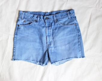 "34"" Waist | Levi's Orange Tab Jean Shorts / Vintage Levi's Denim / Women's Cut-off Shorts"
