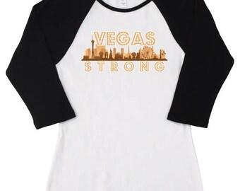 Vegas Strong Skyline Women's Raglan t-shirt