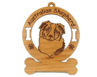 1385 Australian Shepherd Head Personalized Ornament