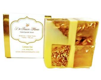 Lemon Soap/Lemon Oat Soap/Citrus Soap/Natural Soap/Handmade Soap/Vegan Soap/Soap Gift/Gift for her/Soap Favors/Birthday Gift/Wedding Favors