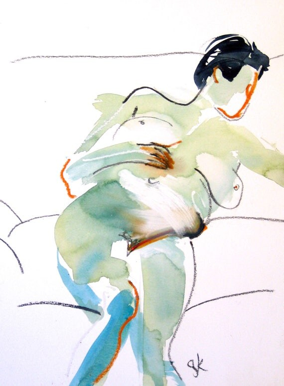 Nude painting- #1484 -original  by Gretchen Kelly