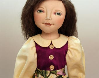 Under the Harvest Moon Cloth Doll by Deanna Hogan, ODACA