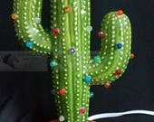 Saguaro Cactus Ceramic Christmas Tree