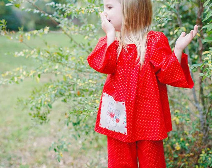 Toddler Girl Outfits - Valentines Day Outfit - Ruffle Pants - Valentines Outfit - Toddler Girl Clothes - Red Pink - Little Girls - 2t to 10
