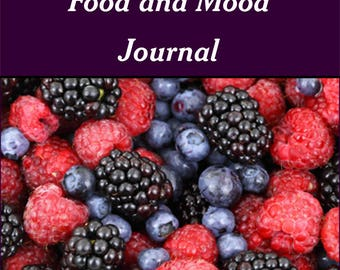 Food and Mood Journal | Six Week Printable Journal | Daily Food Log | Instant Download | Health and Wellness | Food Diary