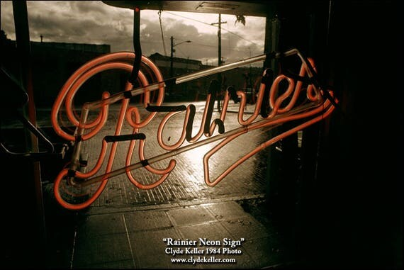 RAINIER NEON SIGN, Seattle Pike Place Market, Clyde Keller photo