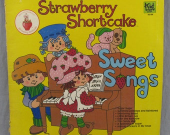 "Strawberry Shortcake Sweet Songs Record Vintage 12"" Vinyl LP Album 1980"