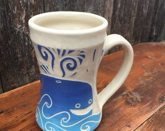 Whale Mug Handmade Large Ceramic Coffee Mugs From My