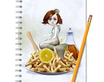 Mermaid Notebook - Mermaid Journal - LINED OR BLANK pages, You Choose
