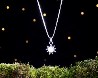 Sterling Silver Sunshine - 3D Double Sided - (Charm, Necklace, or Earrings)