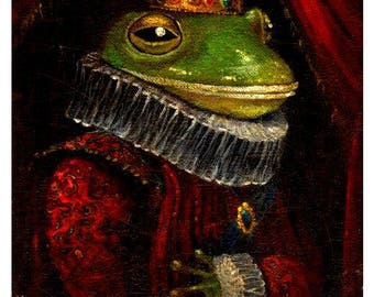 Fairy Tale Art Print, Fine Art Print,The Frog Prince, Nursery Print,