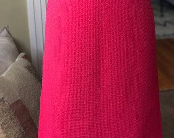 Knitted Bright Pink Vintage Pencil Skirt