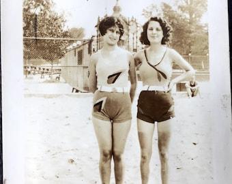 Vintage Photo Album 1920s 1930s Women Bathing Camaraderie NYC Historical Fashion Images 118 Images - Film Wardrobe Design Reference