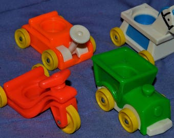 fisher price people Lil RIDERS train planw horse baby nursery