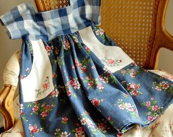 3T Ellie Dress in blue gingham