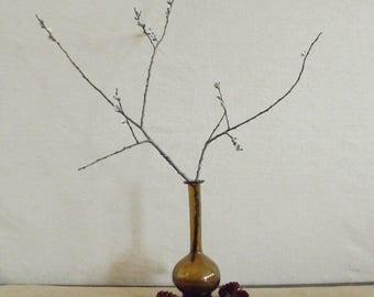 Vintage Mid Century Hand Blown Art Glass Vase