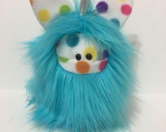 Plush Unicorn Softie - Plush Monster Doll - Cute Stuffed Unicorn Toy - Blue Unicorn Monster Plush Toy - Handmade Plush Toy - Fuzzlicorn