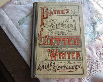 Payne's Social Letter writer for Ladies and Gentlemen HB. 1888