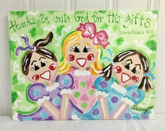 """SAMPLE SALE - """"Thanks be unto God for His gifts"""" Original Painting - Bronwyn Hanahan Art"""