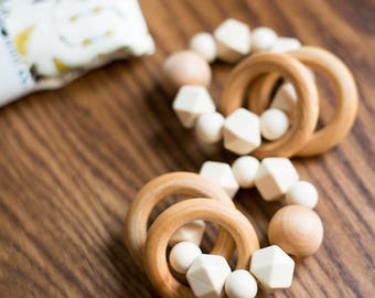 Teething Rattle - Beige - Fall Winter Collection