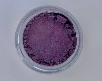 Amethyst Natural Eyeshadow - Purple Lustrous Shimmer - Vegan Mineral Makeup, Great for brown eyes- No Talc, No Gluten, No Corn - On Sale