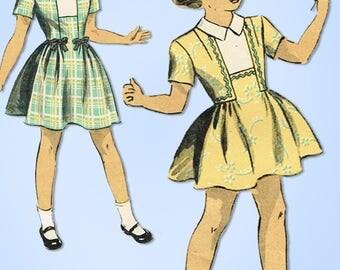 1940s Vintage Du Barry Sewing Pattern 5981 Sweet WWII Little Girls Dress Size 8